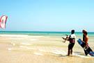 Kitesurfing clinics in Sotavento (Fuerteventura South)