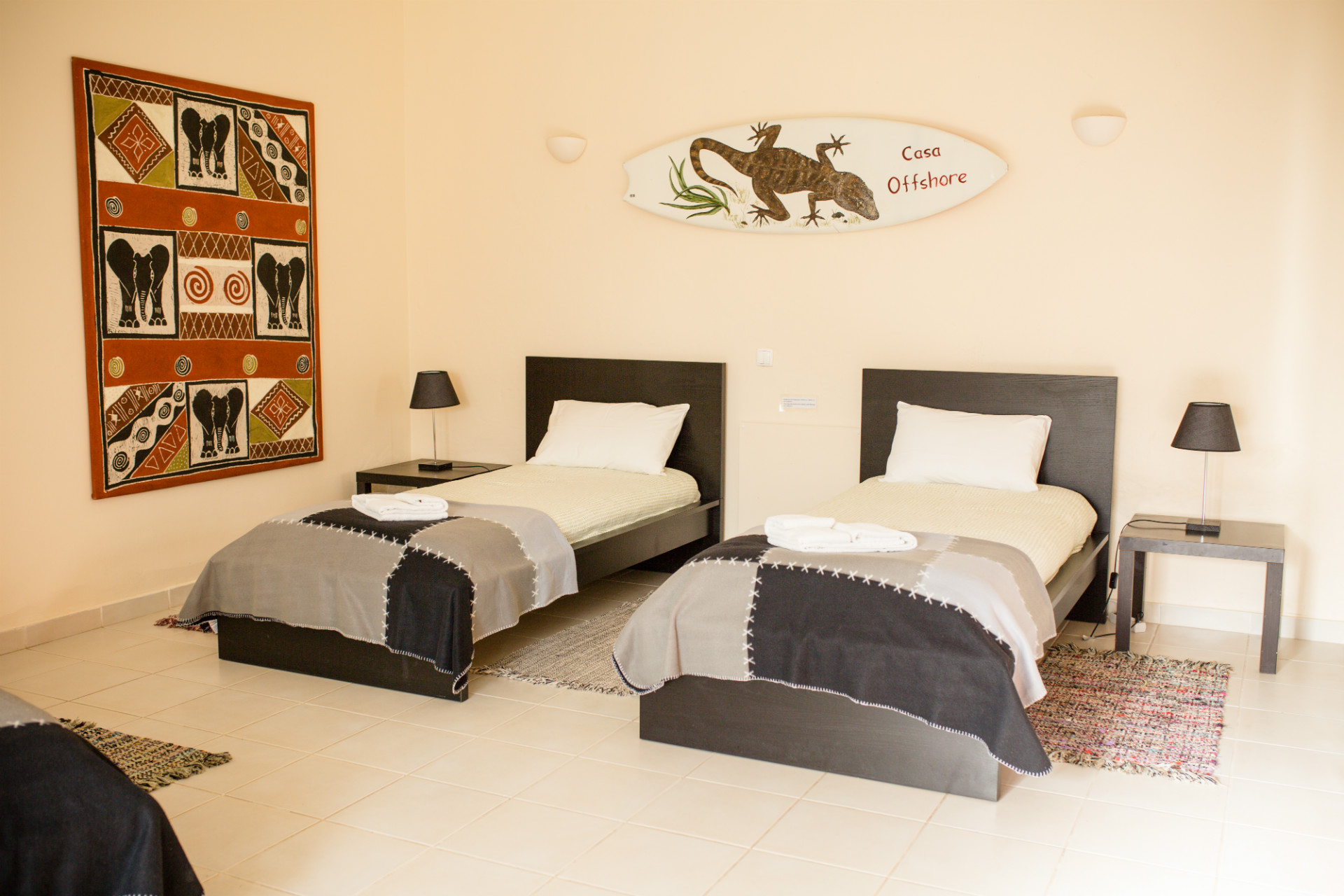 twin room surf camp lagos