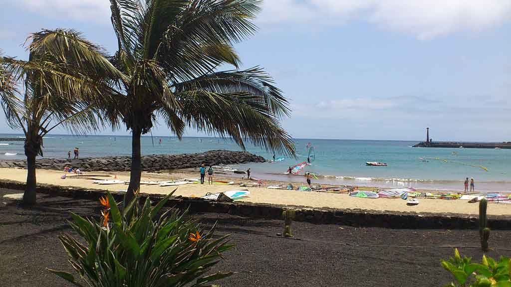 Lanzarote windsurfing spot