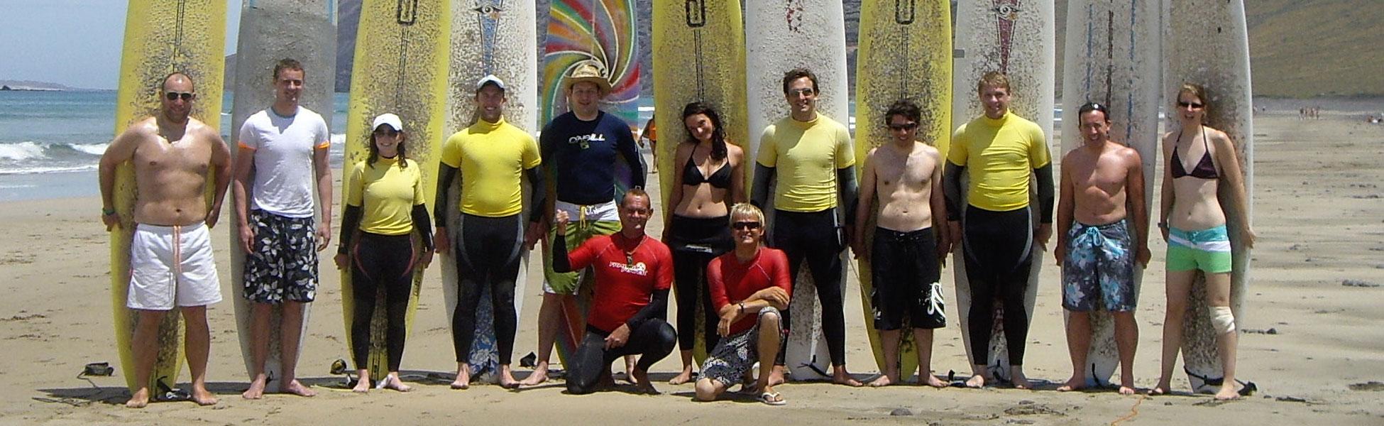 Lanzarote longboard surf camp