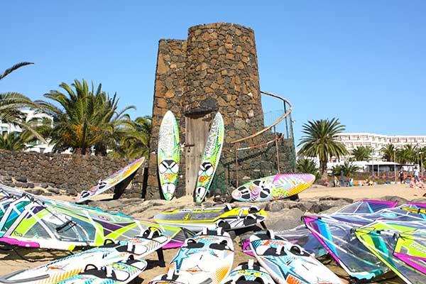 Lanzarote windsurfing gear