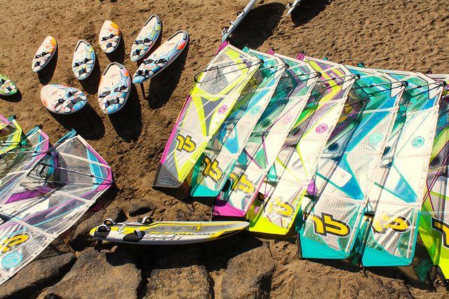 costa teguise windsurfing gear