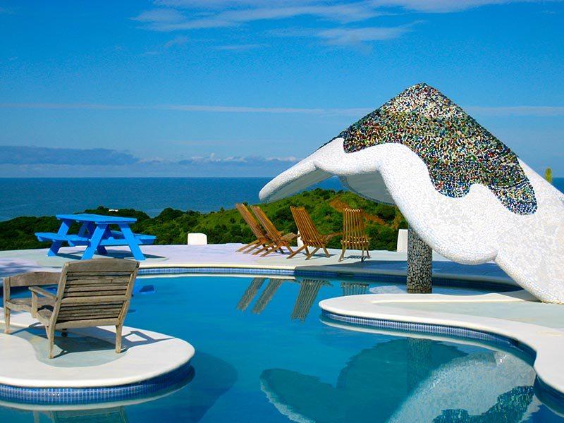 Nicaragua surf resort pool area