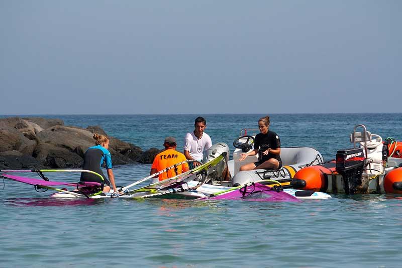 water patrol windsurfing lanzarote